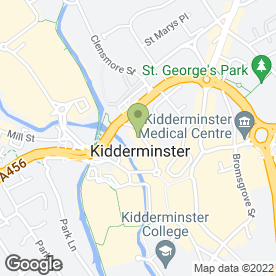 Map of Thursfields in Kidderminster, worcestershire