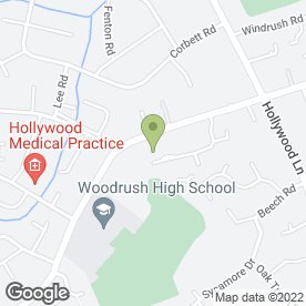 Map of The Coppice Care Club & Pre School in Hollywood, Birmingham, west midlands