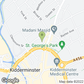 Map of Vauxhall - CMS (Kidderminster) in Kidderminster, worcestershire