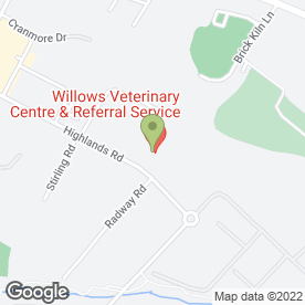 Map of WILLOWS VETERINARY CENTRE in Shirley, Solihull, west midlands