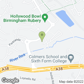 Map of Chiquito Restaurant & Bar in Rednal, Birmingham, west midlands