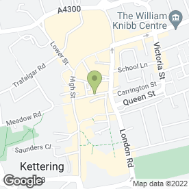 Map of High Street Dental Practice in Kettering, northamptonshire
