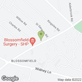 Map of Blossomfield Complete Dental Care in Solihull, west midlands