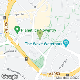 Map of Izabela's in Coventry, west midlands