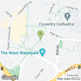 Map of Drucker's Vienna Patisserie in Coventry, west midlands