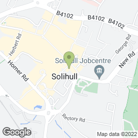 Map of Cafe Rouge in Solihull, west midlands