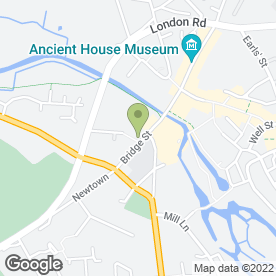 Map of Thetford Grammar School in Thetford, norfolk
