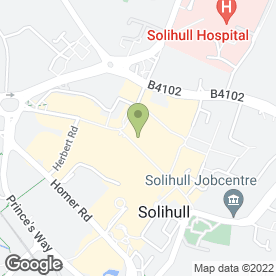 Map of Greggs in Solihull, west midlands
