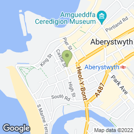 Map of The Angel Inn in Aberystwyth, dyfed