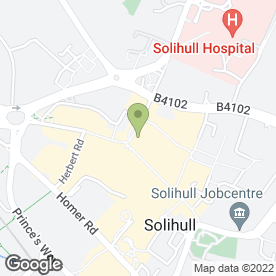 Map of WHITING & PURCHES in Solihull, west midlands
