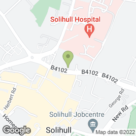 Map of Mobile Car Valeting Solihull in Solihull, west midlands