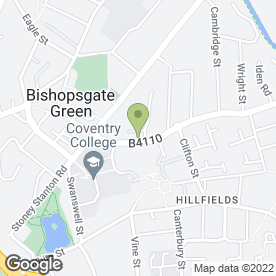 Map of Harnell Lane Medical Centre in Coventry, west midlands