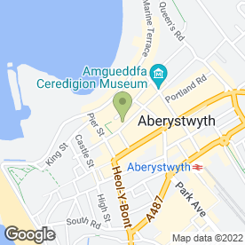 Map of The Tan Shop in Aberystwyth, dyfed