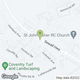 Map of The Cut Above in Coventry, west midlands
