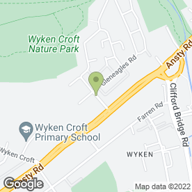 Map of Bell & Partners Ltd in Wyken, west midlands