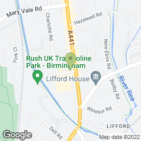 Map of Jesse Hill in Birmingham, west midlands