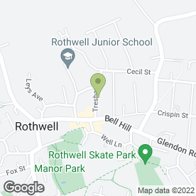 Map of Rothwell Physiotherapy Centre in Rothwell, Kettering, northamptonshire
