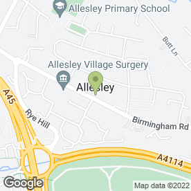 Map of Allesley Pharmacy in Coventry, west midlands