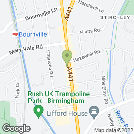 Map of ABS Roofing Midlands Ltd in Stirchley, Birmingham, west midlands