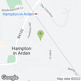 Map of Pestakill in Hampton-In-Arden, Solihull, west midlands