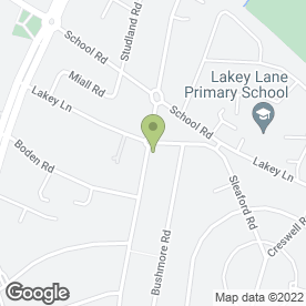Map of Sherwood Dental Practice in Hall Green, Birmingham, west midlands
