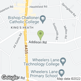 Map of Rick Plumbing & Heating in Kings Heath, Birmingham, west midlands