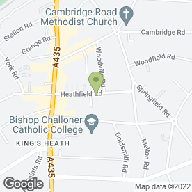 Map of KINGS HEATH DENTURE CENTRE in Kings Heath, Birmingham, west midlands