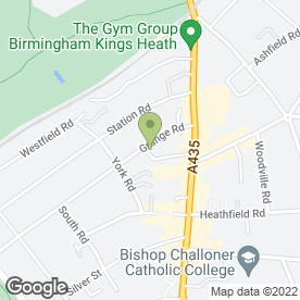 Map of Kings Heath Grange Day Nursery in Kings Heath, Birmingham, west midlands
