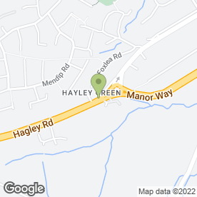 Map of Smheart Hair in Hayley Green, Halesowen, west midlands