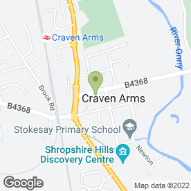 Map of Massala in Craven Arms, shropshire