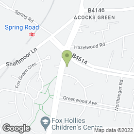 Map of Hall Green Hire Ltd in Acocks Green, Birmingham, west midlands