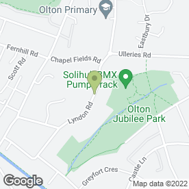 Map of Phoenix Celebrations in Solihull, west midlands