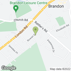 Map of Carters Brandon Cars in Brandon, suffolk
