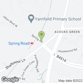 Map of Alburhan Grammar School in Tyseley, Birmingham, west midlands