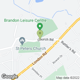Map of B.Thompson's Removals & Storage in Brandon, suffolk