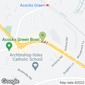 Map of De La Creme in Acocks Green, Birmingham, west midlands