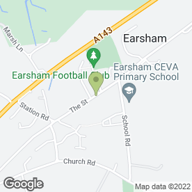 Map of D Way Travel in Earsham, Bungay, suffolk