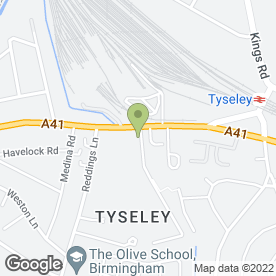 Map of Saab Electrical Wholesalers in Tyseley, Birmingham, west midlands