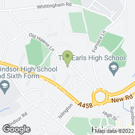 Map of Brett Young Day Centre in Halesowen, west midlands