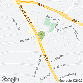 Map of KSM Textile Ltd in Sparkhill, Birmingham, west midlands
