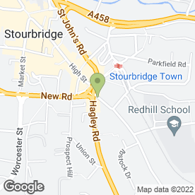 Map of The Old Crispin Inn in Stourbridge, west midlands