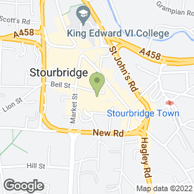 Map of Dorothy Perkins Retail Ltd in Stourbridge, west midlands