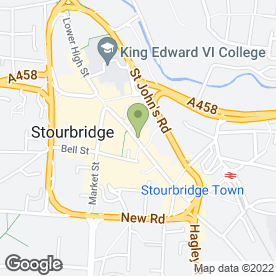 Map of Thomson Bureaux de Change in Stourbridge, west midlands