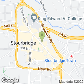 Map of Jenni Taylor Counselling in Stourbridge, west midlands