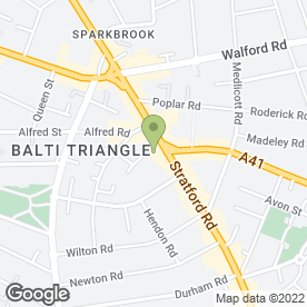 Map of Thattai Textiles (UK) Ltd in Sparkhill, Birmingham, west midlands