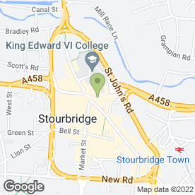 Map of The Duke William in Stourbridge, west midlands