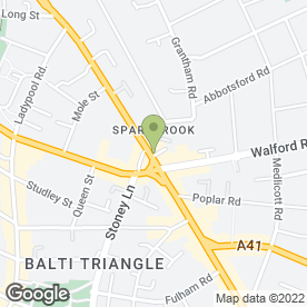 Map of B.H MOHAMMED SOLICITORS in Sparkhill, Birmingham, west midlands