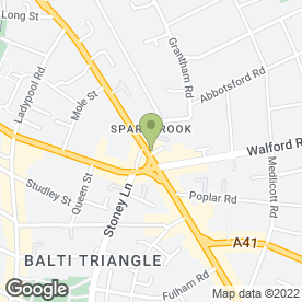 Map of City Pace Ltd in Sparkhill, Birmingham, west midlands
