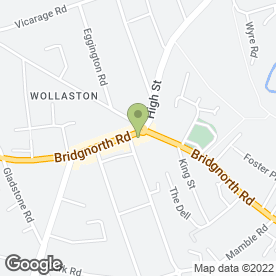 Map of Pets Paradise in Wollaston, Stourbridge, west midlands
