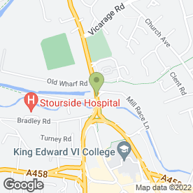 Map of New Inn Public House in Wordsley, Stourbridge, west midlands